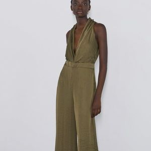 NWT Zara jumpsuit.  Olive green. Size M